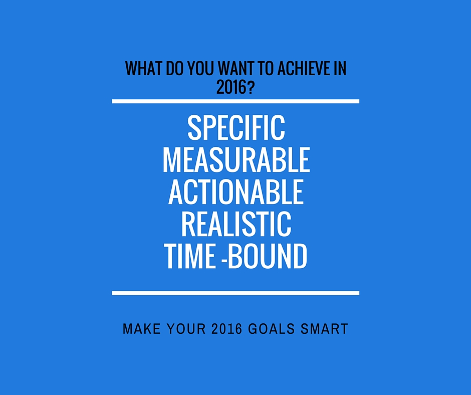 Will your 2016 goals be SMART goals