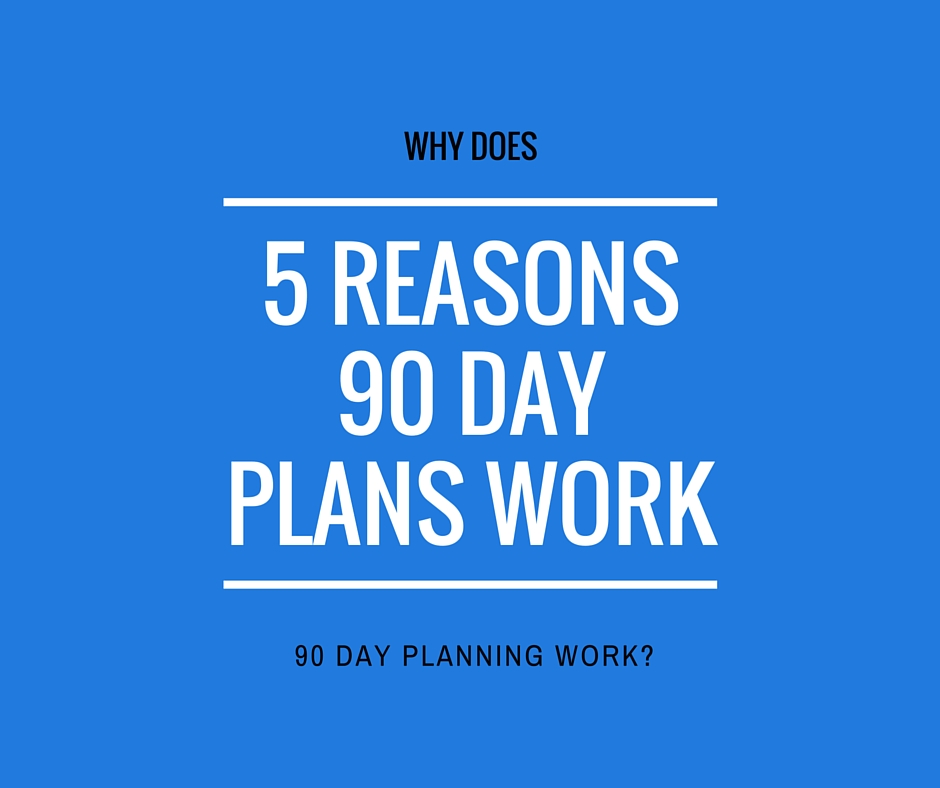 5 reasons 90 day planning works