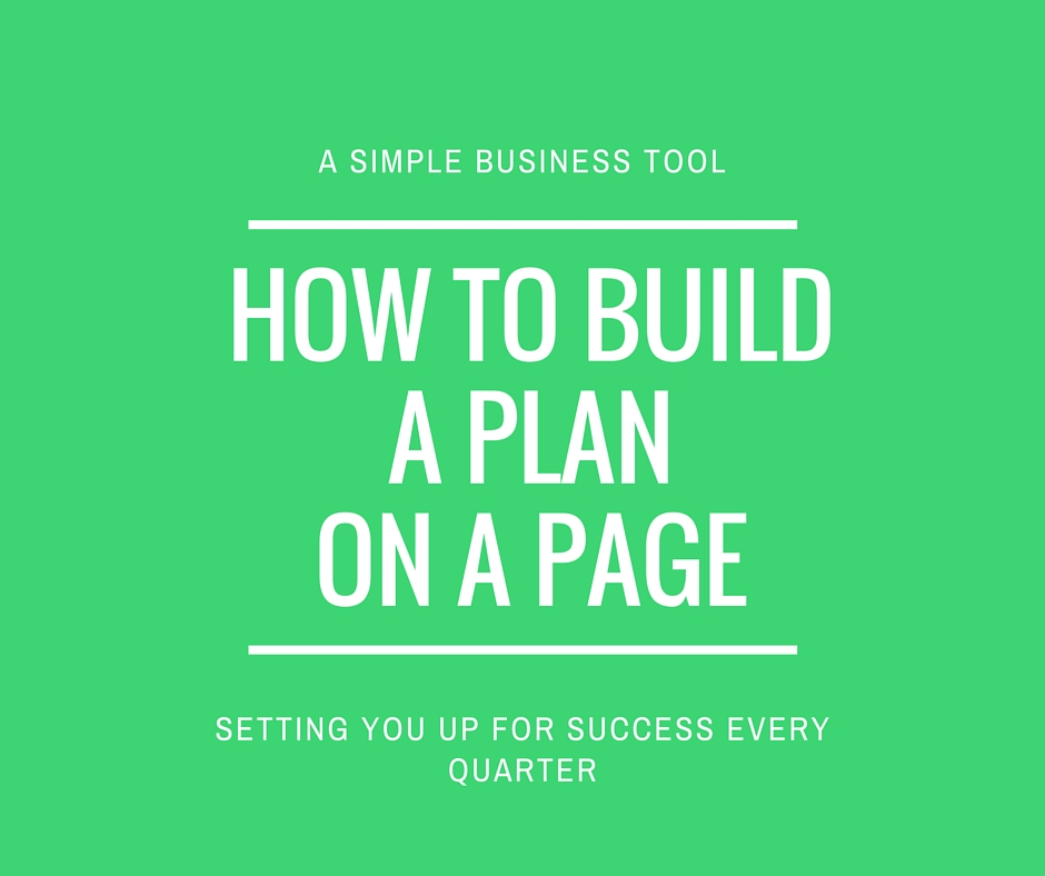 How to build a plan on a page for the next 100 days